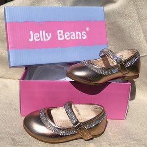 Jelly Beans Ballerina Flats - Gold Sz 5